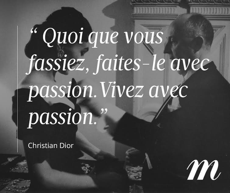 Monsieur Christian Dior avait bien raison... #Citation