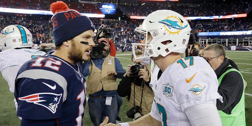 The 3-0 @MiamiDolphins. #FinsUp The 1-2 New England Patriots. #GoPats Whos winning the Week 4 AFC East matchup? on.nfl.com/Y5CpFp