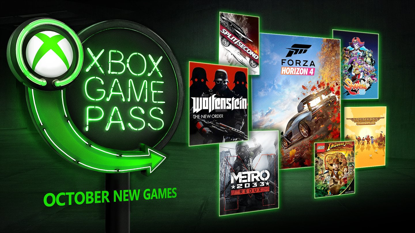 Games coming to Xbox Game Pass in October