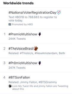 Even better: WORLDWIDE trending. Love you guys. Thank you!!#BTSonFallon https://t.co/hEwUKeONFG