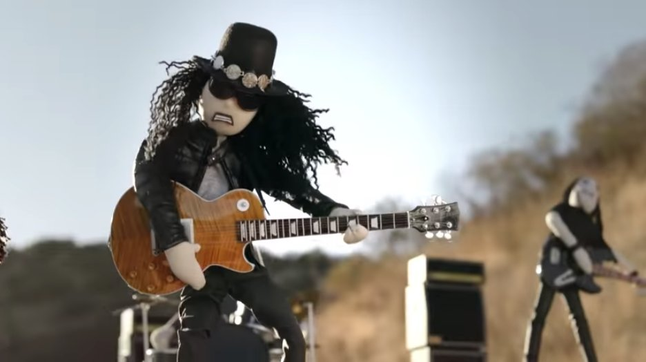 """See Slash and Myles Kennedy and the Conspirators get the rag doll treatment in the video for """"Driving Rain"""" https://t.co/nsBKuM55Ts"""