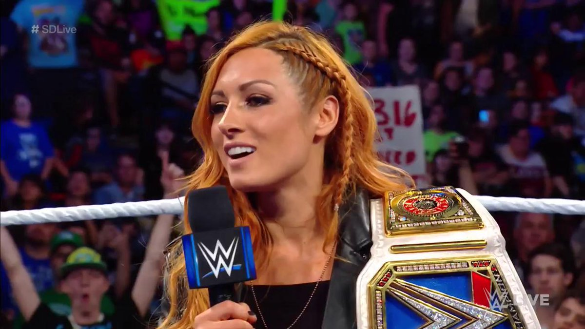 You deserve it! - the @WWEUniverse Its impossible to disagree. #SDLive @BeckyLynchWWE