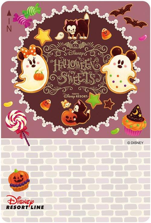【ミッキーとミニーがハロウィーンのお菓子になっちゃった!?🍭】 トリック オア トリート!🎃 #ディズニーリゾートライン では、ハロウィーンスウィーツをイメージしたデザインのフリーきっぷを販売中♪ おいしそうなデザインをチェック!>> https://t.co/tHkFWCVaPt  #ディズニーハロウィーン