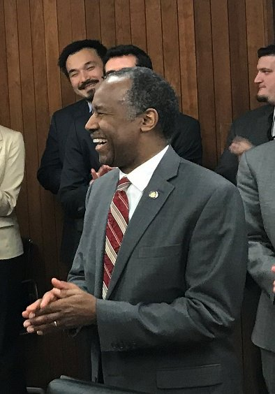 Surprise party for the birthday boy Ben Carson ..Happy birthday.