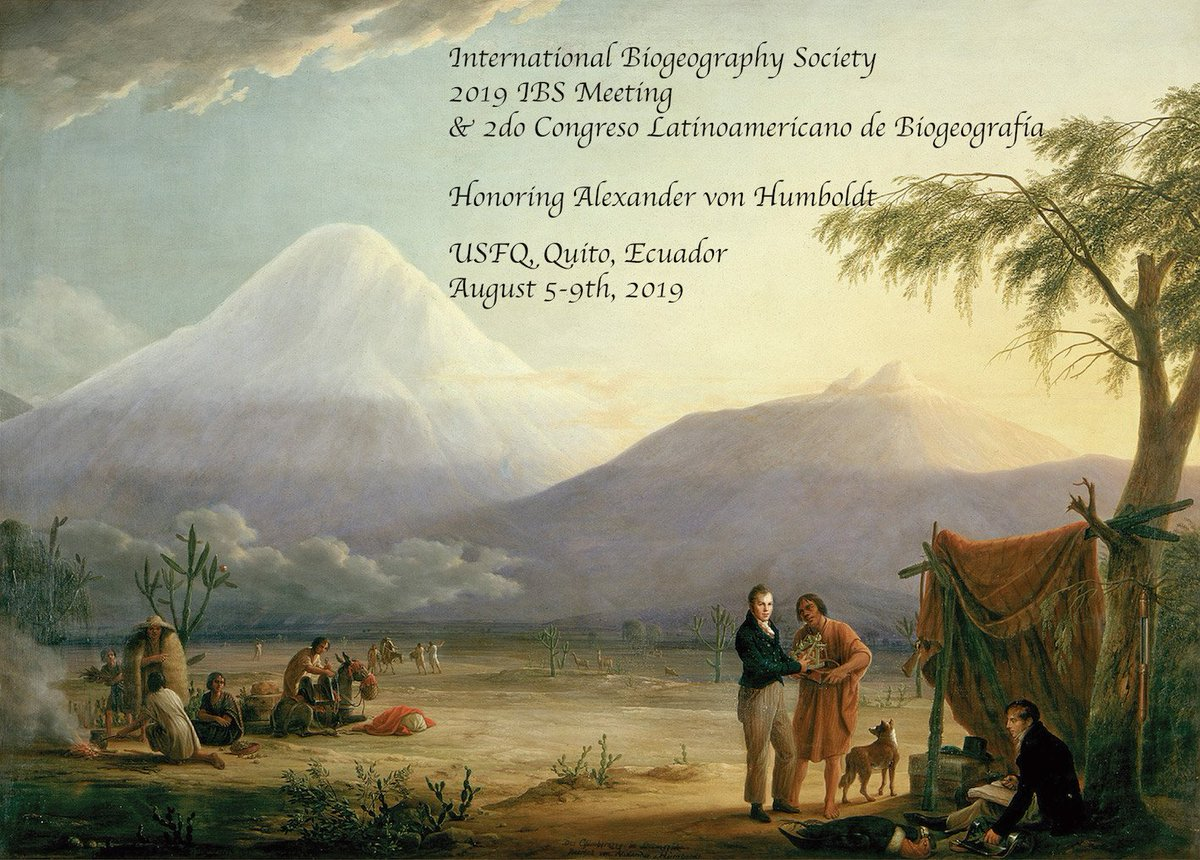 Mark the date! Honoring Humboldt! Quito, Ecuador: 5-9 August, 2019. @CarinaHoorn @biomauro_rtg @Biogeography @JBiogeography