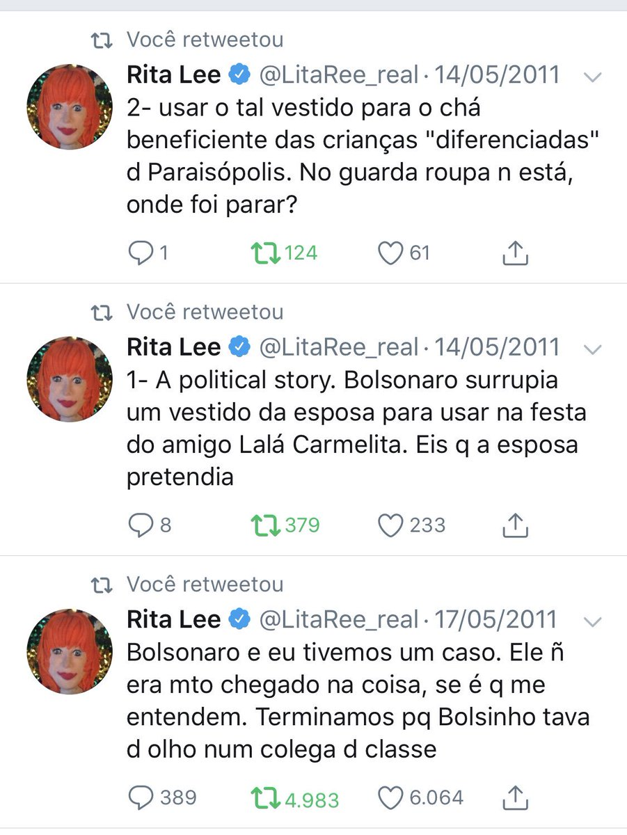 Bolsonaro e Rita Lee. Pra posteridade.
