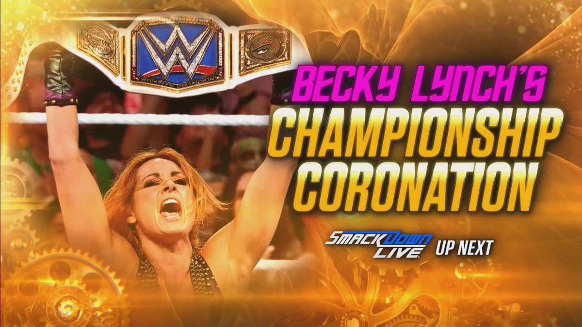 UP NEXT: You're invited to the official coronation of the new #SDLive #WomensChampion, @BeckyLynchWWE!