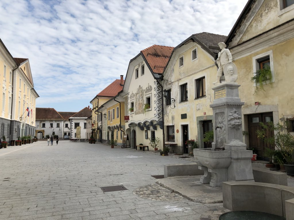 The town of Radovljica, in northwest Slovenia, a center of beekeeping 🐝 🇸🇮