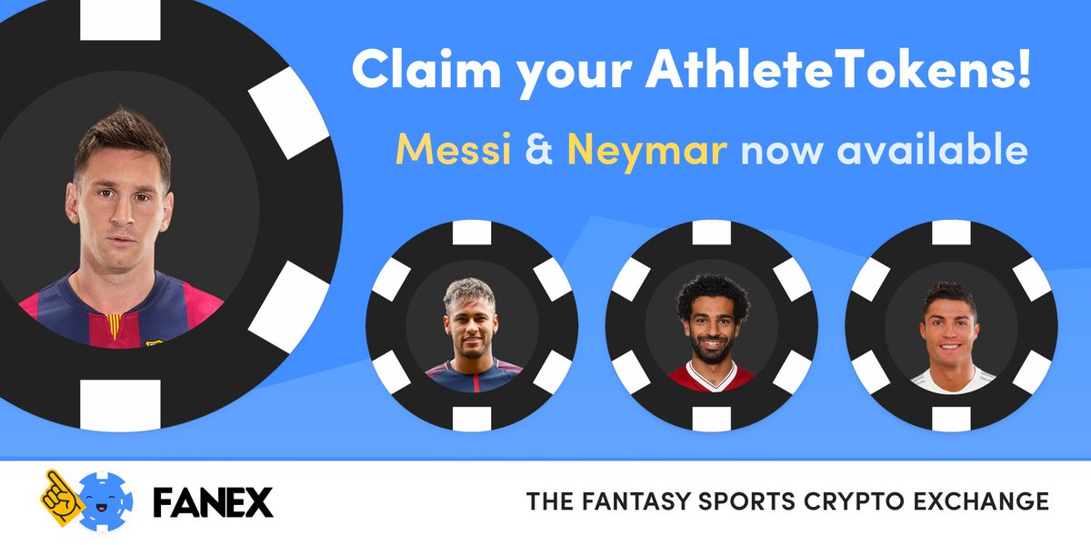 Claim your Messi and Neymar tokens now! Were giving away AthleteTokens to the Fanex.io community. Each athlete is represented by 10,000 identical tokens called AthleteTokens created from the #ETH ERC20 standard. Read more: medium.com/@Fanex/fanexs-… #LIVPSG #UCL