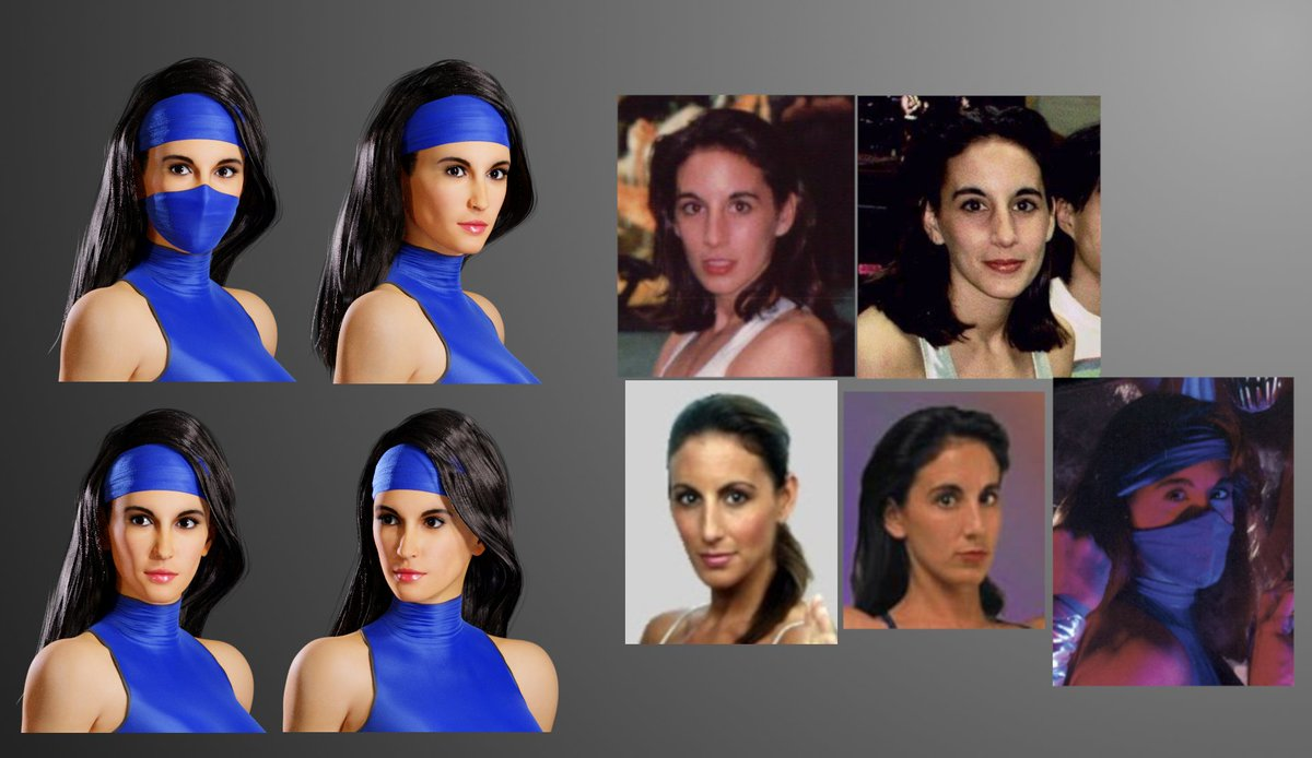 I&#39;m working again on Kitana. I&#39;m trying to make her look more like Katalin Zamiar. It&#39;s not perfect but better than what I&#39;ve done before with her...  #MortalKombat #kitana #Blender3d <br>http://pic.twitter.com/oacl5tzKog