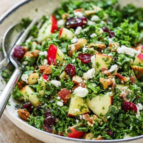 Apple Cranberry Bacon Kale Salad>Not only this kale salad recipe...https://t.co/uXk4QFJ7rE #recipe https://t.co/eePuySOgEc