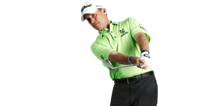 Nothing kills short-game touch faster than a closed face. Pitch with touch for a better feel around the greens. Photo