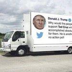 Image for the Tweet beginning: So #TrumpTweetTruck is on the