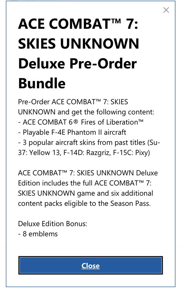 Holy Shit but You Get Ace Combat 6 Backward compatible on