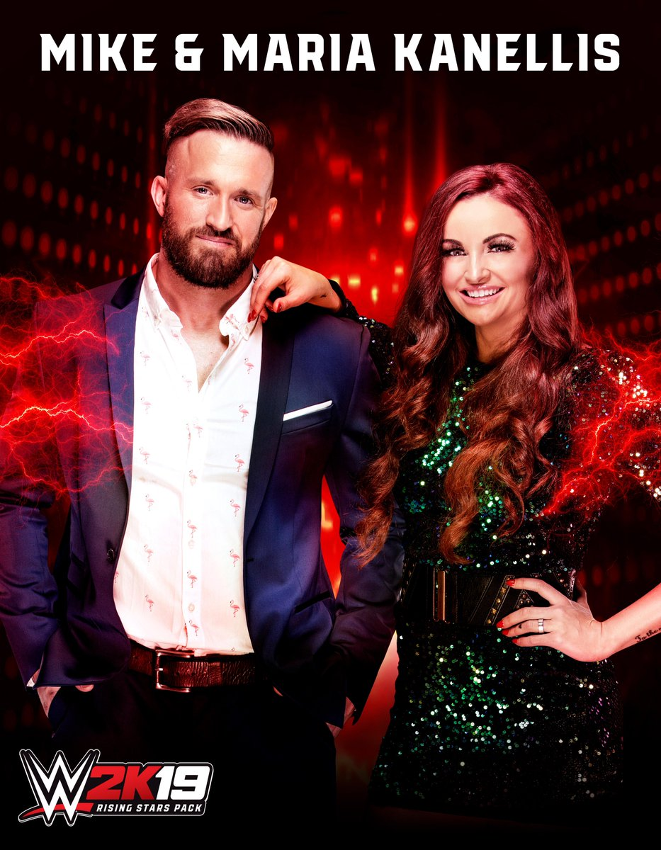 Feel the power of love with @RealMikeBennett and @MariaLKanellis as DLC characters in #WWE2K19! #SDLive