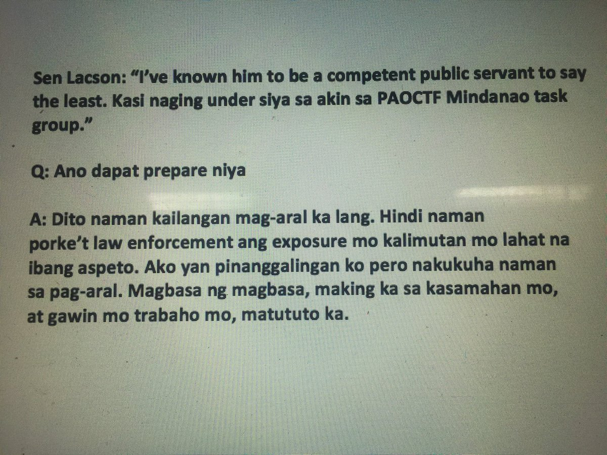 "Sen @iampinglacson on BuCor Chief Ronald ""Bato"" dela Rosa's reported Senate bid plan | via @sherieanntorres"