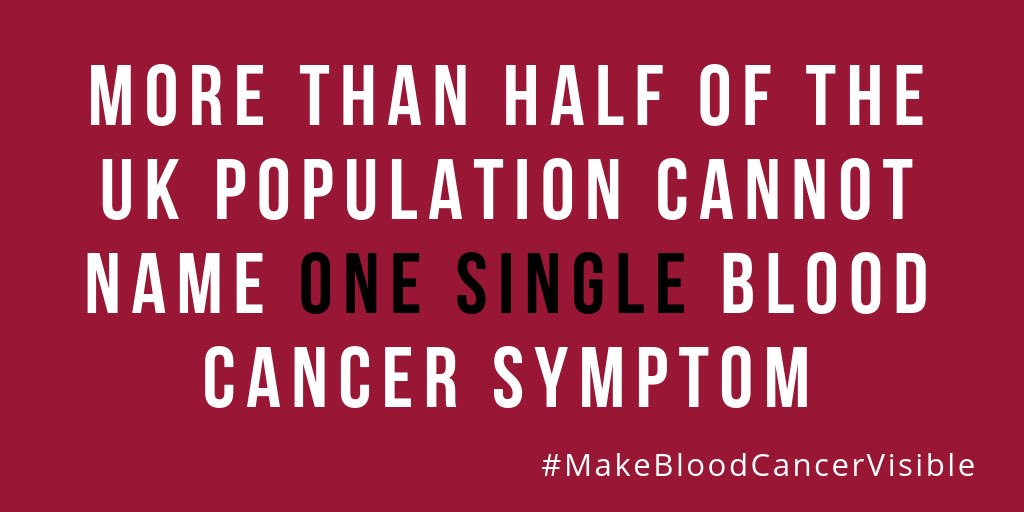 As part of their #makebloodcancervisible month, today I am doing a twitter takeover for @bloodwise_uk So much work already done to raise awareness about #bloodcancer but so much more to do.