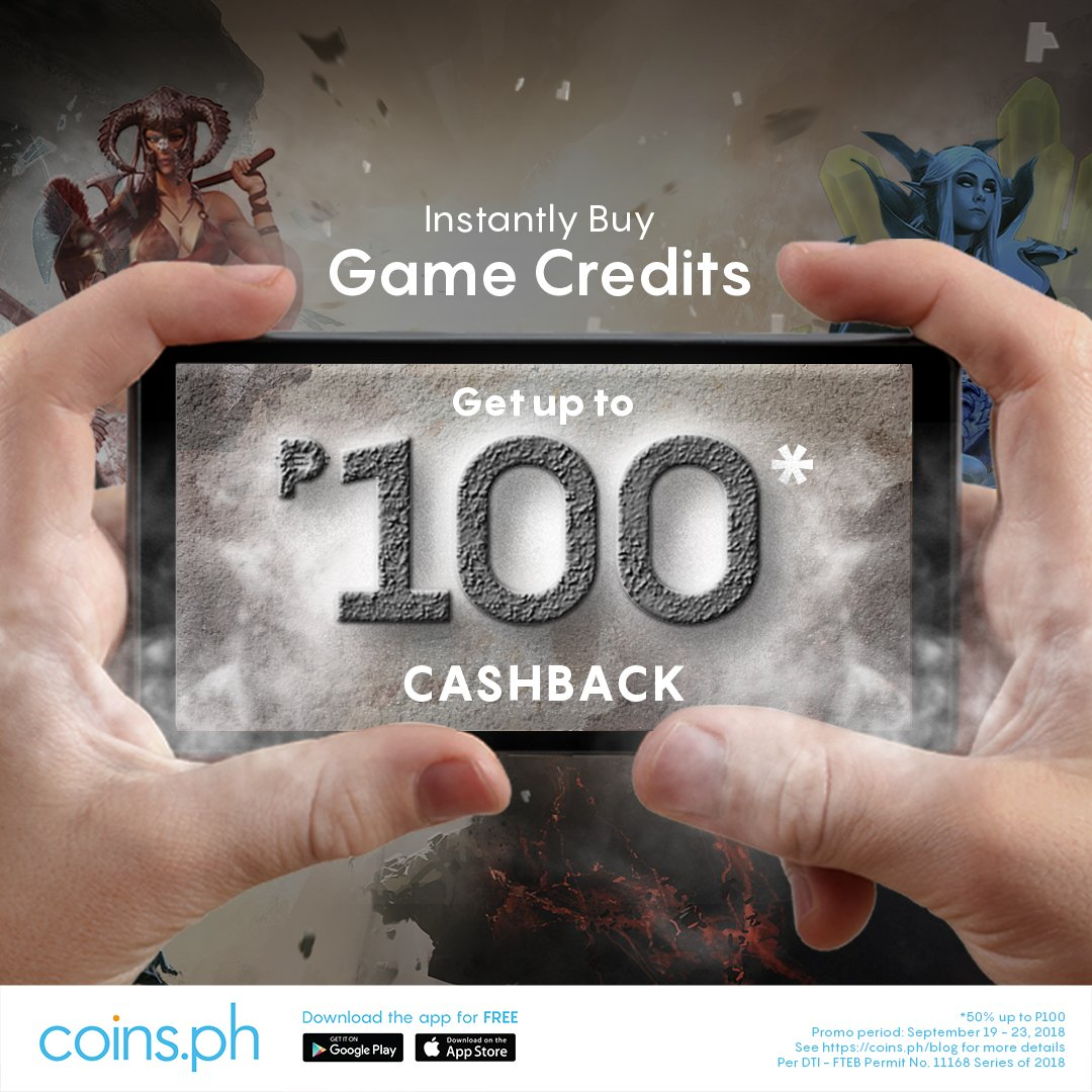 Coinsph On Twitter You Can Use Https Tco Ehqwvz20ro To Buy Garena 50 Shell Shells Other Game Credits Learn More Here Blog Up 100 Sep 2018 Per Dti Fteb Permit No