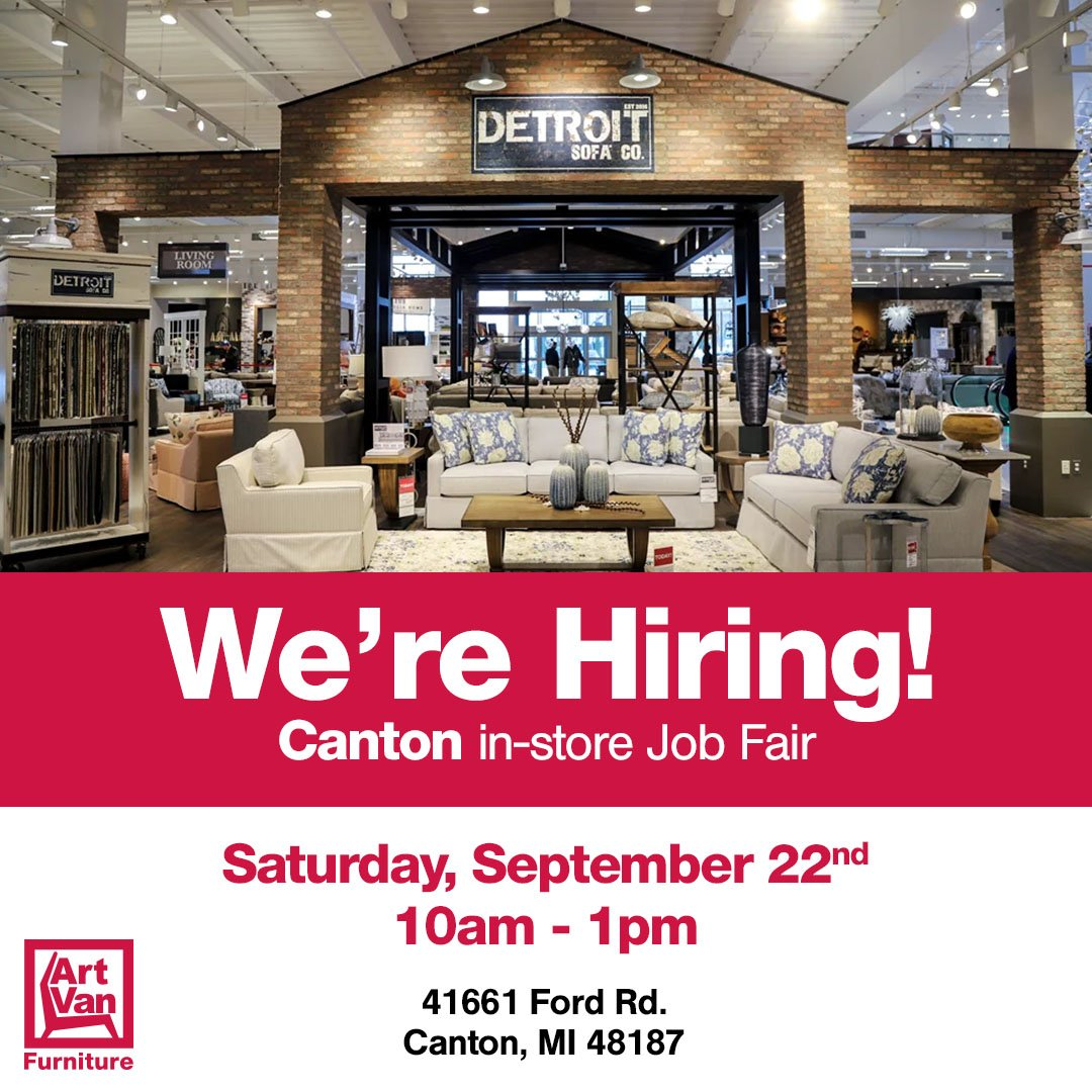 Join Us Saturday 9 22 At Our Canton MI Showroom For A Career Fair Full Time Part Positions Available