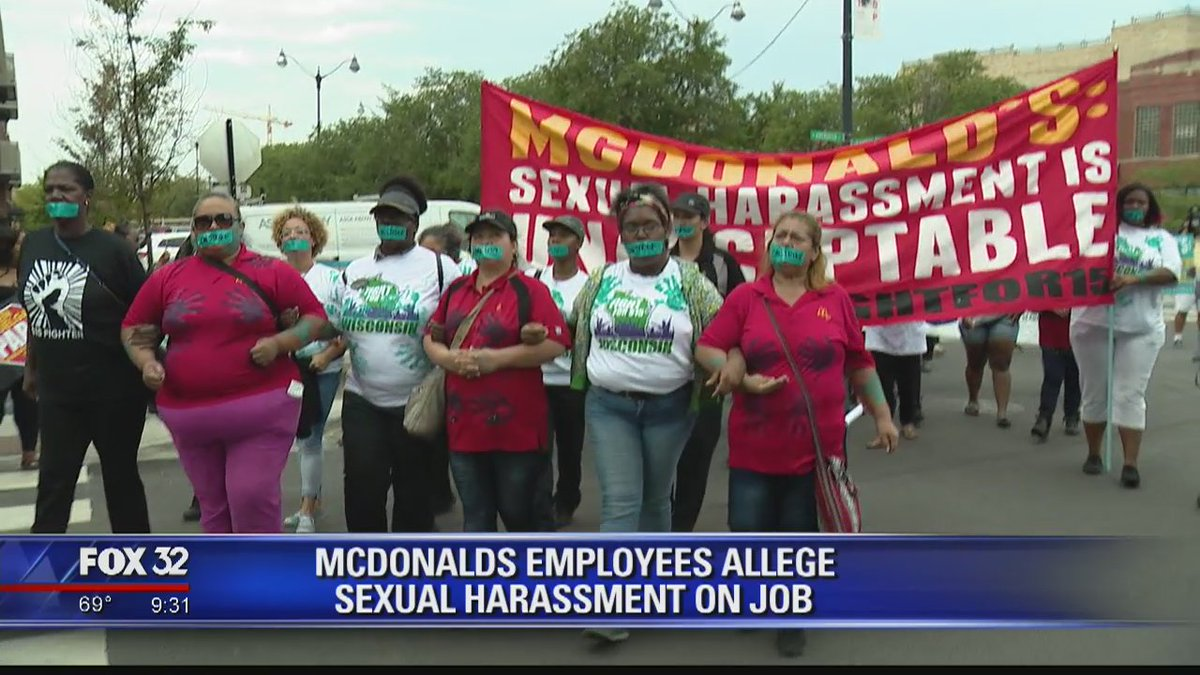McDonald's workers across US protest against sex harassment https://t.co/wQmyniVMy3 @dsplacko reports