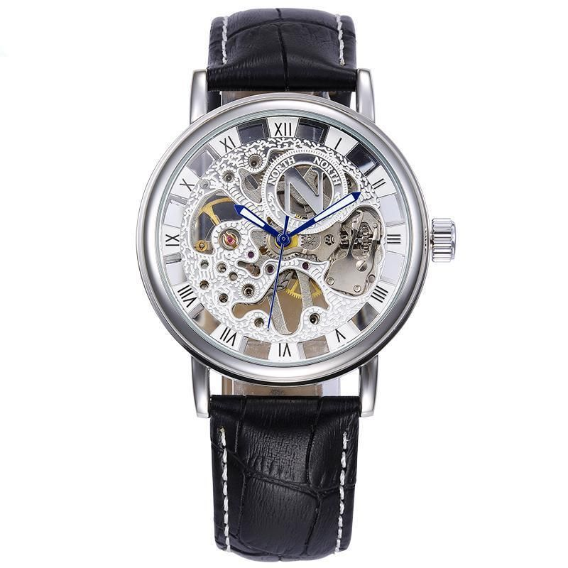 Men Mechanical Watches Genuine Leather Band #Waterproof #Skeleton buff.ly/2L5PuEh