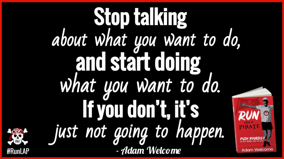 Stop talking...Start doing. Advice from @mradamwelcome in #RunLAP. #tlap #fitleaders