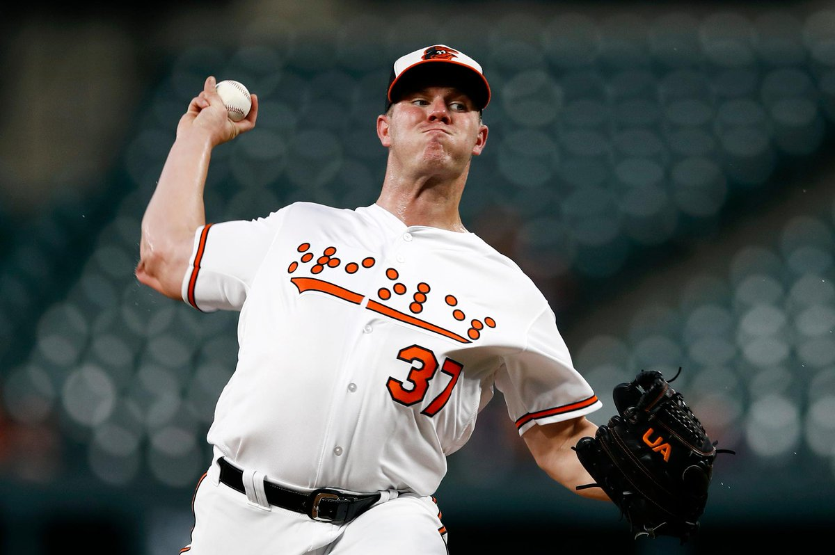 This is awesome.  The @Orioles became the first American pro team to wear Braille-lettered jerseys on Tuesday, which was National Federation of the Blind Night at Oriole Park.