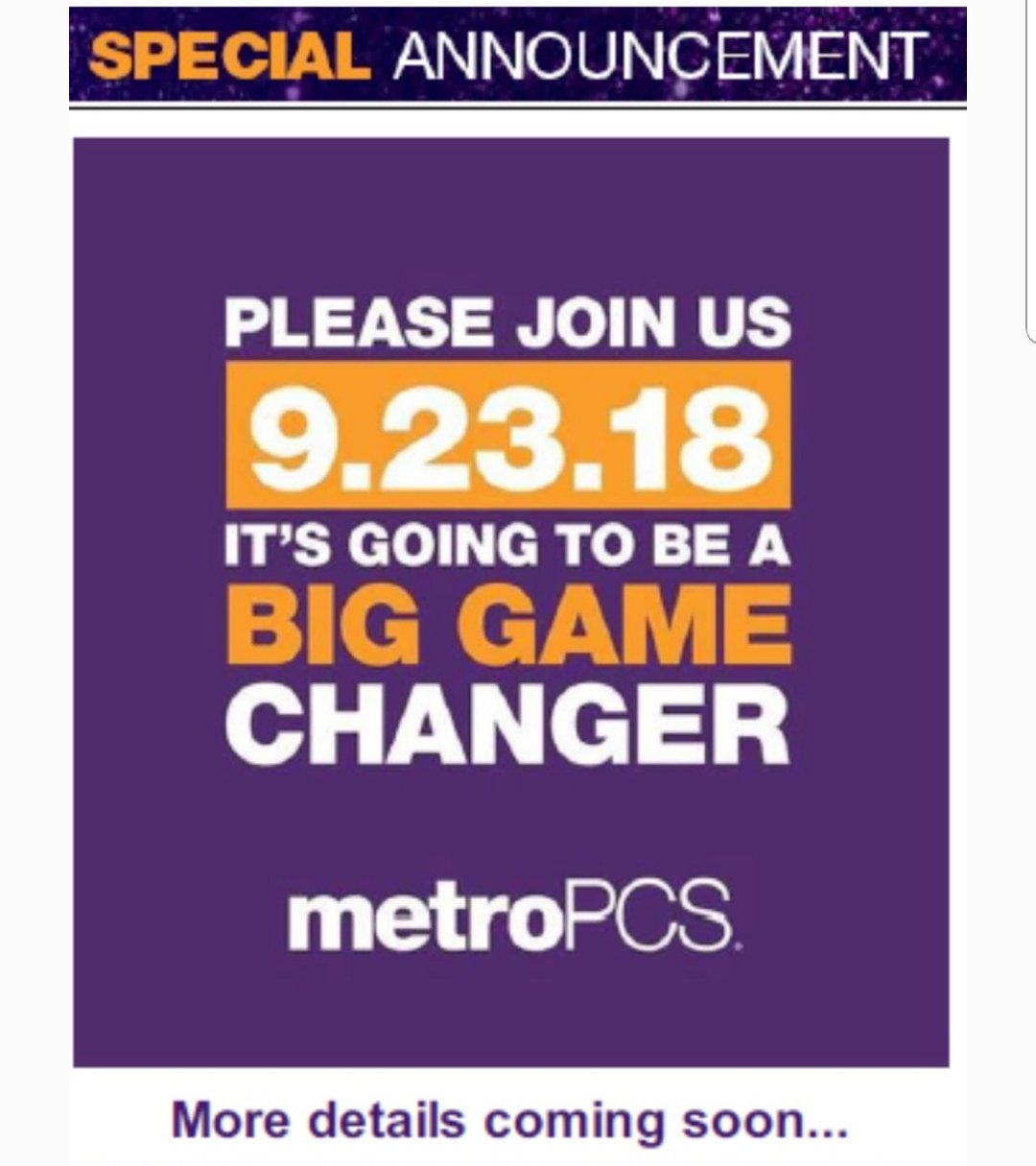 Big Metro PCS Announcement on September 23