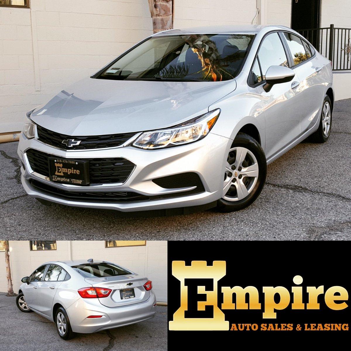 Empire Auto Sales >> Empire Auto Sales On Twitter 2018 Chevrolet Cruze Silver Black