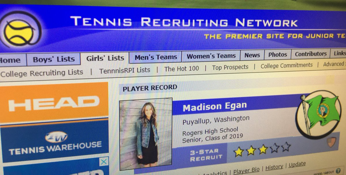 On the rise @mads_egan on @TennisRecNet and @MyUTR Keep it rolling and good luck at National @usta tourney in OKC!