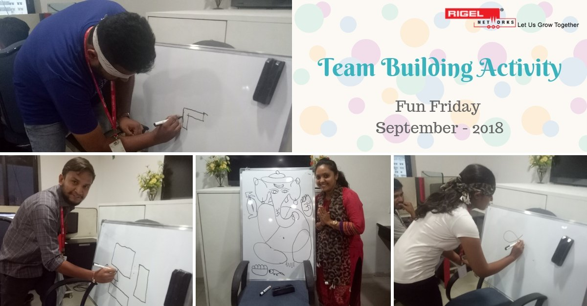 ... and on 14th September 2018, it was all about #team #building! The #game was similar to Homemade #Pictionary except one of the #players was #blindfolded.