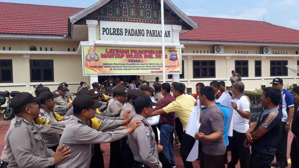 Latpraops Mantap Brata Singgalang 2019, Polres Padang Pariaman MatangkanKesiapan
