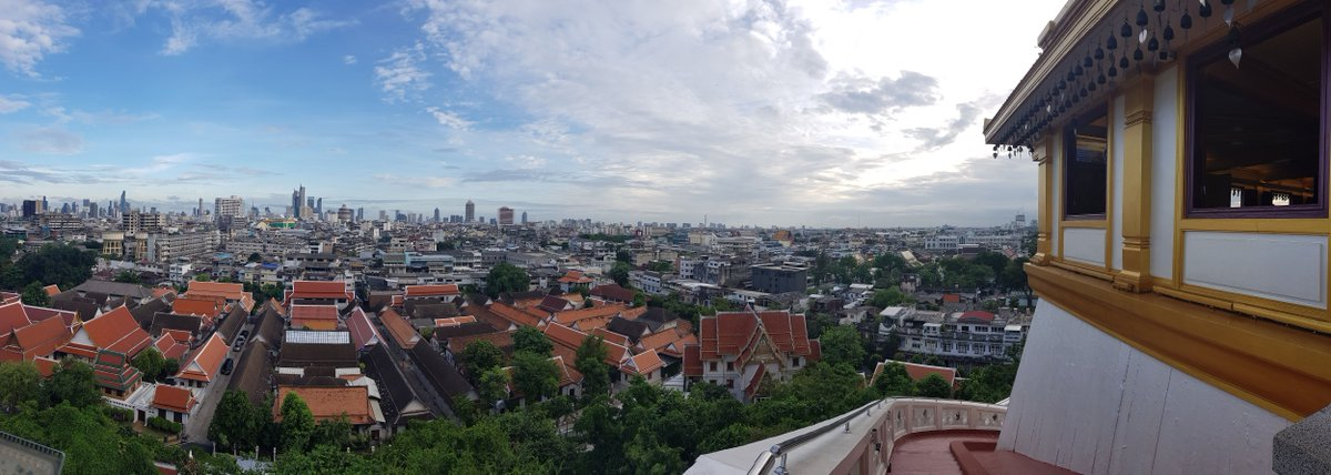 Nothing beats a great view!  Enjoy this birds-eye view of Bangkok from the Golden Mount (Wat Saket). Have you been yet? It's moments away from our hotel, check it out:  https:// buff.ly/2QFqg2h  &nbsp;    #ReviewThailand #amazingthailand<br>http://pic.twitter.com/RG4Bd7qaGx