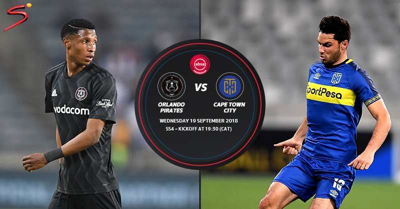 Supersport On Twitter Orlando Pirates Will Look To Hand Cape Town City Another Defeat In The Absaprem When The Teams Meet At Orlando Stadium Tonight Https T Co Jaxx4xdgbq