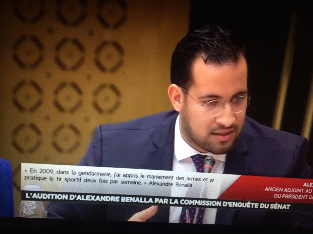 Devant la commission d'enquête sénatoriale, Alexandre Benalla nie en bloc vouloir installer une société de sécurité privée au Maroc, «je suis Français, je suis bien en France»