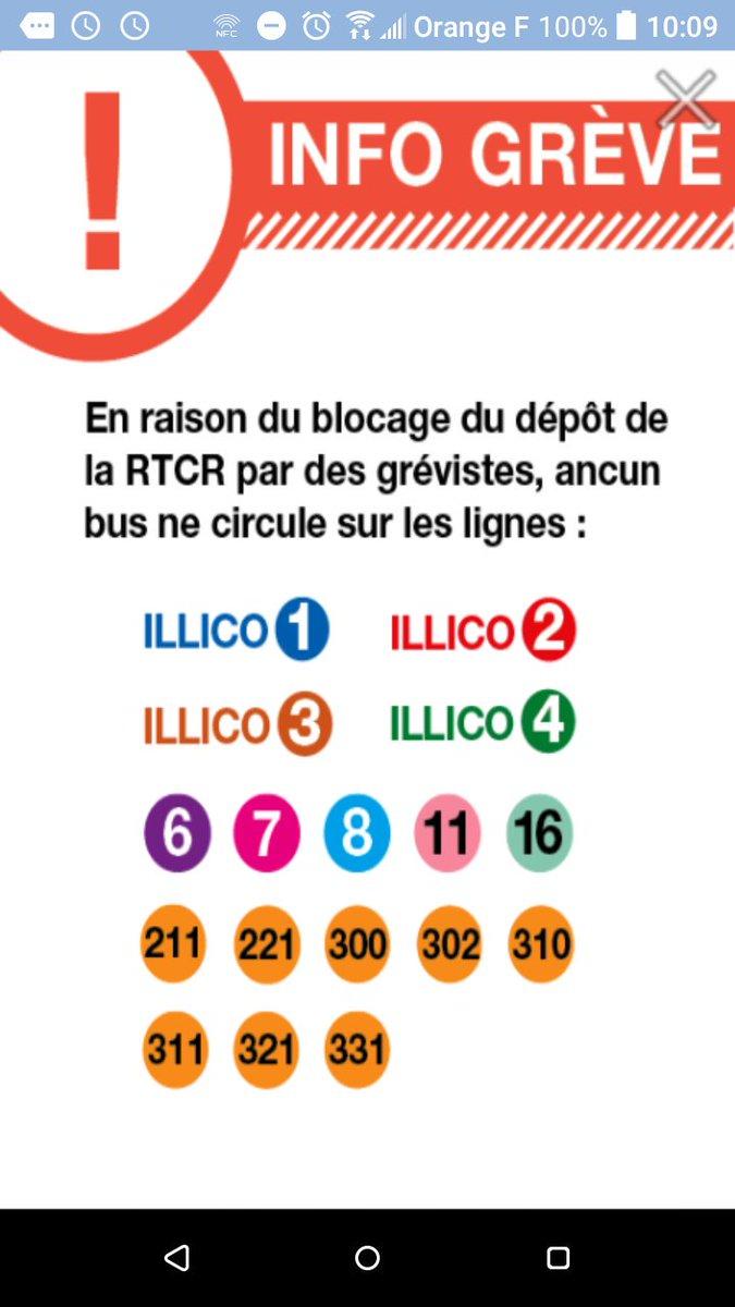 Blocage dépôt #RTCR. Aucun bus ne circule sur les lignes ILLICO 1, 2, 3, 4, L6, L7, L8, L11, L16. #LaRochelle