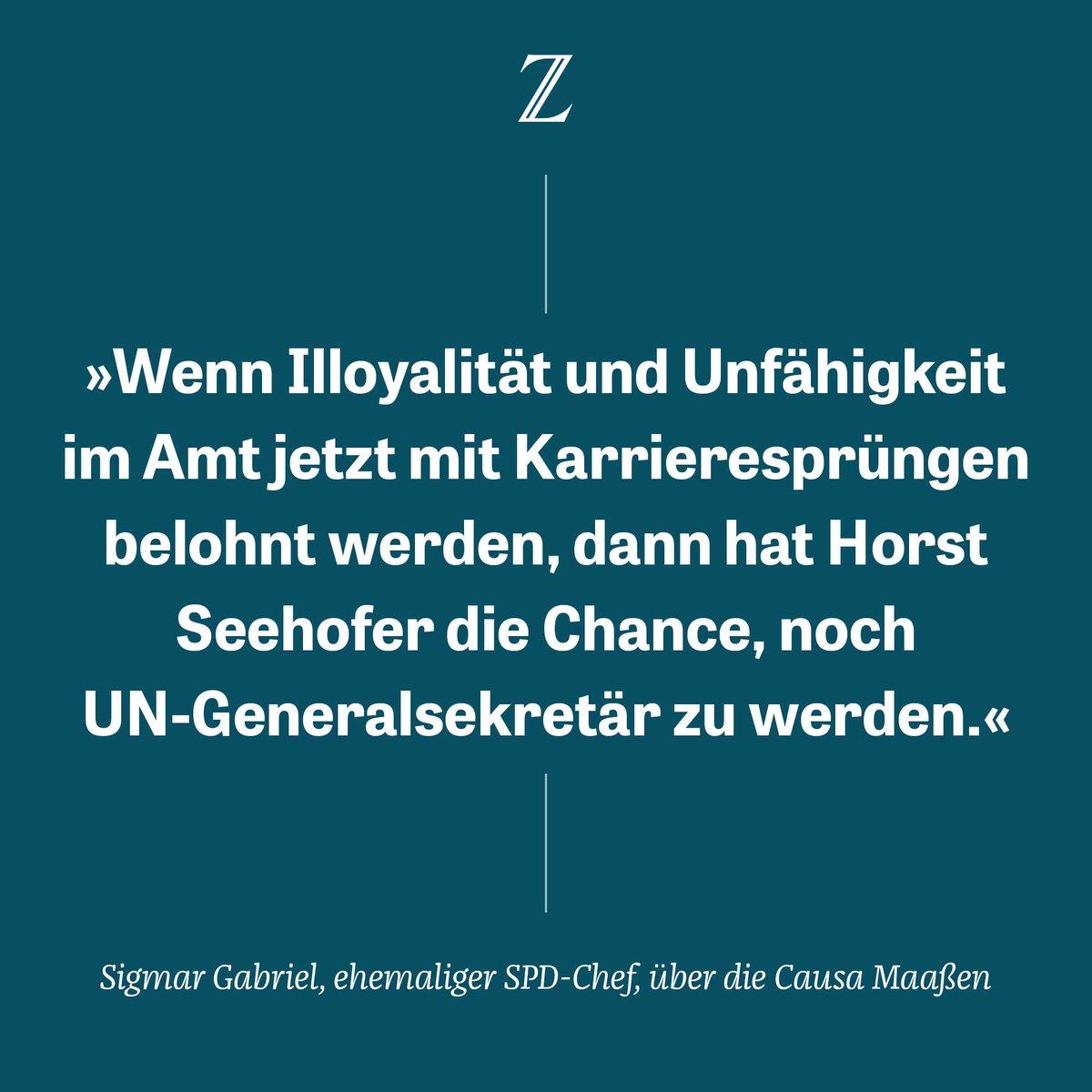 .@sigmargabriel findet harte Worte: Den von seiner Partei ausgehandelten Kompromiss zur Ablösung von Verfassungsschutzpräsident #Maassen kann der frühere SPD-Chef nicht nachvollziehen: https://t.co/M3rHJGmjp8