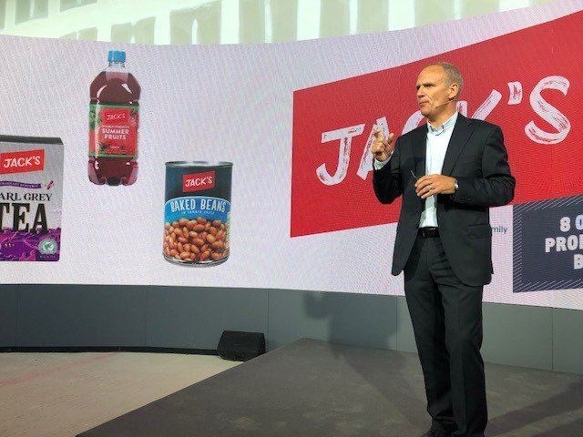 This morning Dave Lewis revealed Tesco's new discount chain #Jacks in Chatteris, Cambridgeshire.   1800 of the 2000 products stocked in store are Jack's branded and 8 out of 10 products are grown, reared or made in Britain.
