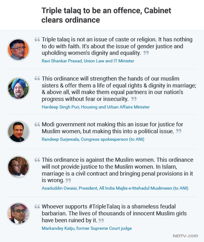 #TripleTalaq is just short of becoming a punishable offence after the government cleared an ordinance today.   Read more here: https://t.co/zbXvwF6qPd
