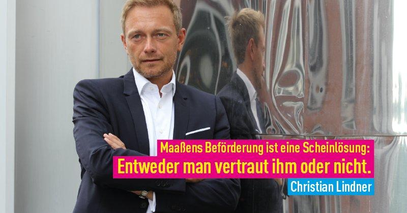 Fdp On Twitter Maassen Die Beförderung Von Herrn Maaßen Ist