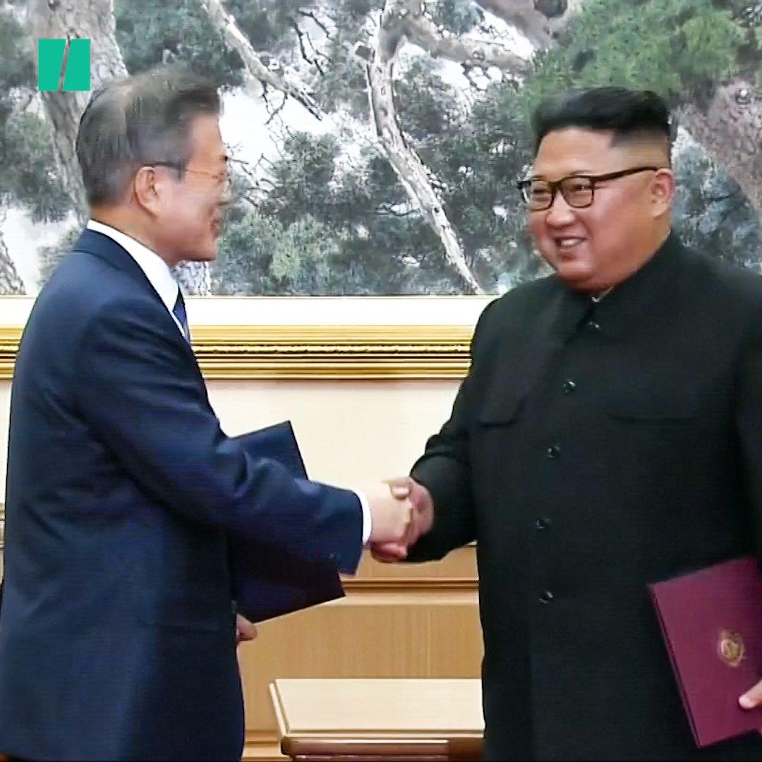 'The Korean peninsula without war has begun.'