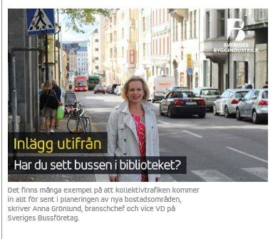 Kan #bussen köra in i biblioteket? Svar ja. För #eldrivna, tysta och avgasfria bussar skapar nya möjligheter för #kollektivtrafiken. Läs vår kollega @AnnaFGronlund blogga på @SverigesByggind https://t.co/pZzT5zCbfY