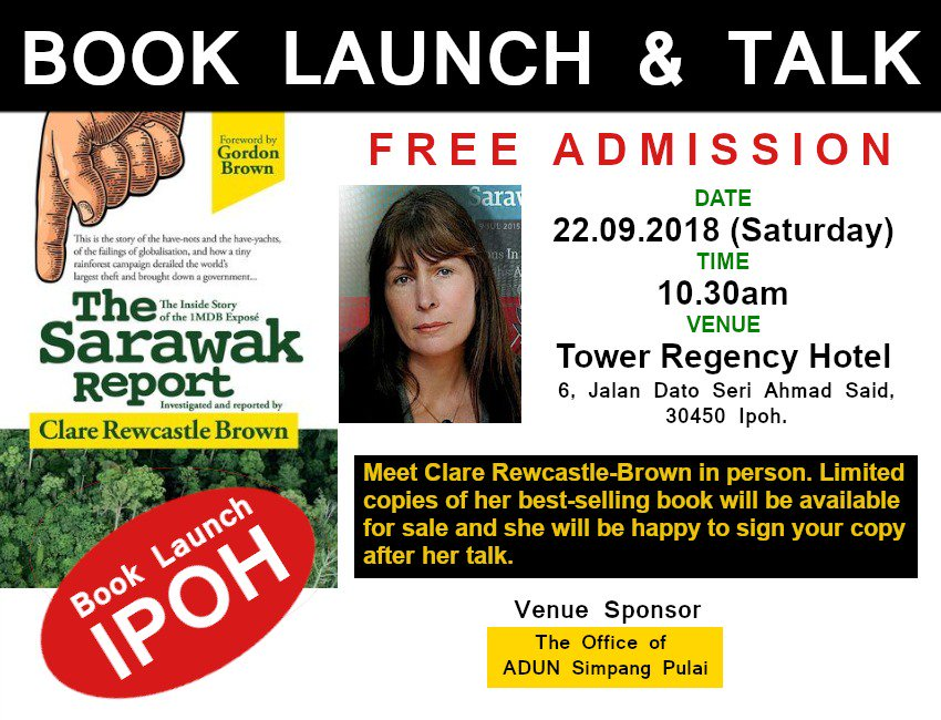 Image result for Clare Rewcastle Brown's book launch at Tower Regency Hotel, Ipoh
