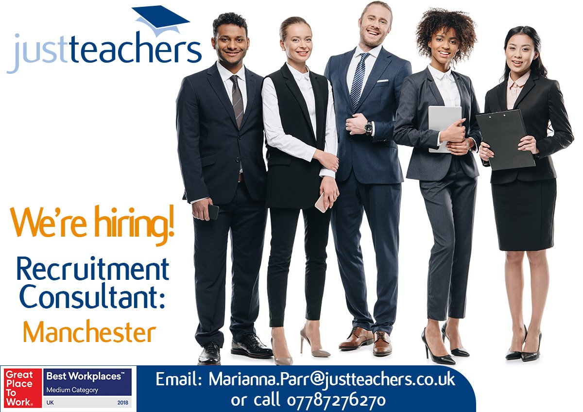 test Twitter Media - We're now looking for talent for our Prestwich office, Manchester. If you are a Recruitment Consultant with a passion re education & the welfare of young people, contact Marianna on 07787 276 270/email marianna.parr@justteachers.co.uk #Recruitment #2018GreatPlaceToWorkAwardWinner https://t.co/Rd5j5YcokG