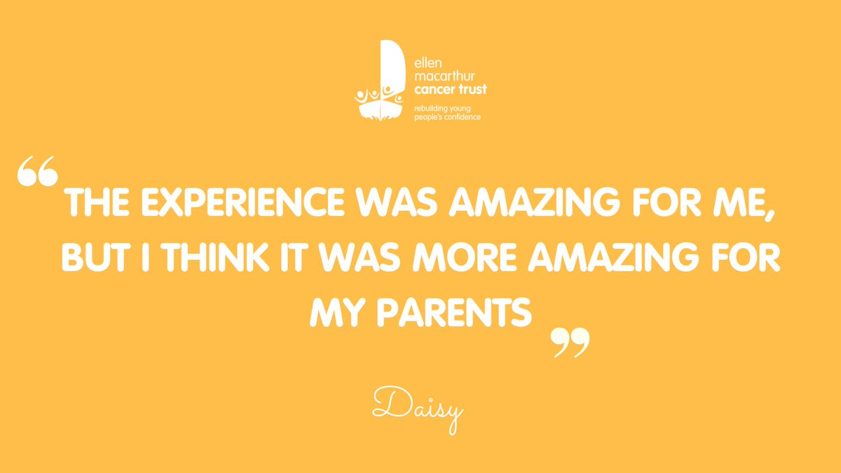 Daisy first sailed with the Trust when she was 15, after receiving treatment for Hodgkin's Lymphoma. She regained her confidence and sense of purpose which had a huge impact on her family. She returned home happy, bubbly and excited for her future. #CCAM ##ConfidenceafterCancer