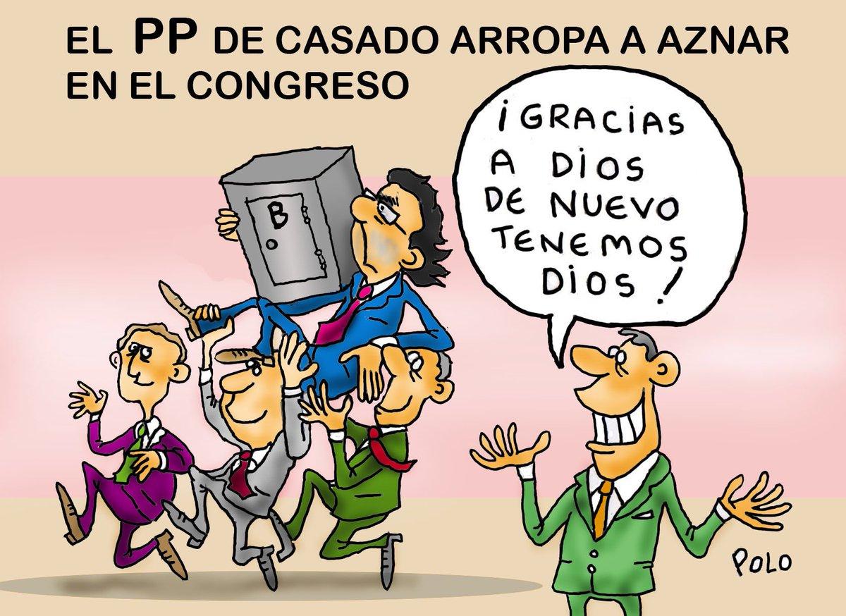 """La viñeta de hoy...""""Habemus Aznar"""" @pelaya01 @politicahoyayer @Famelica_legion @Zaparrastroso1"""