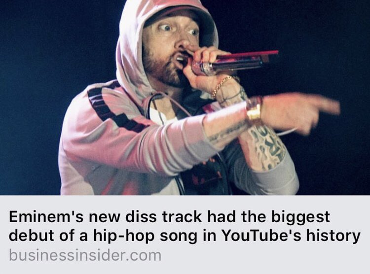 👀Man do you see this shit,Think about it the Biggest hip hop song on youtube 🤨now everybody gotta take a L because of MGK😠what the fuck, we didn't have anything to do with this shit Damn 😡, how many times ya'll was playing that shit. 😤LOL get the strap @Eminem