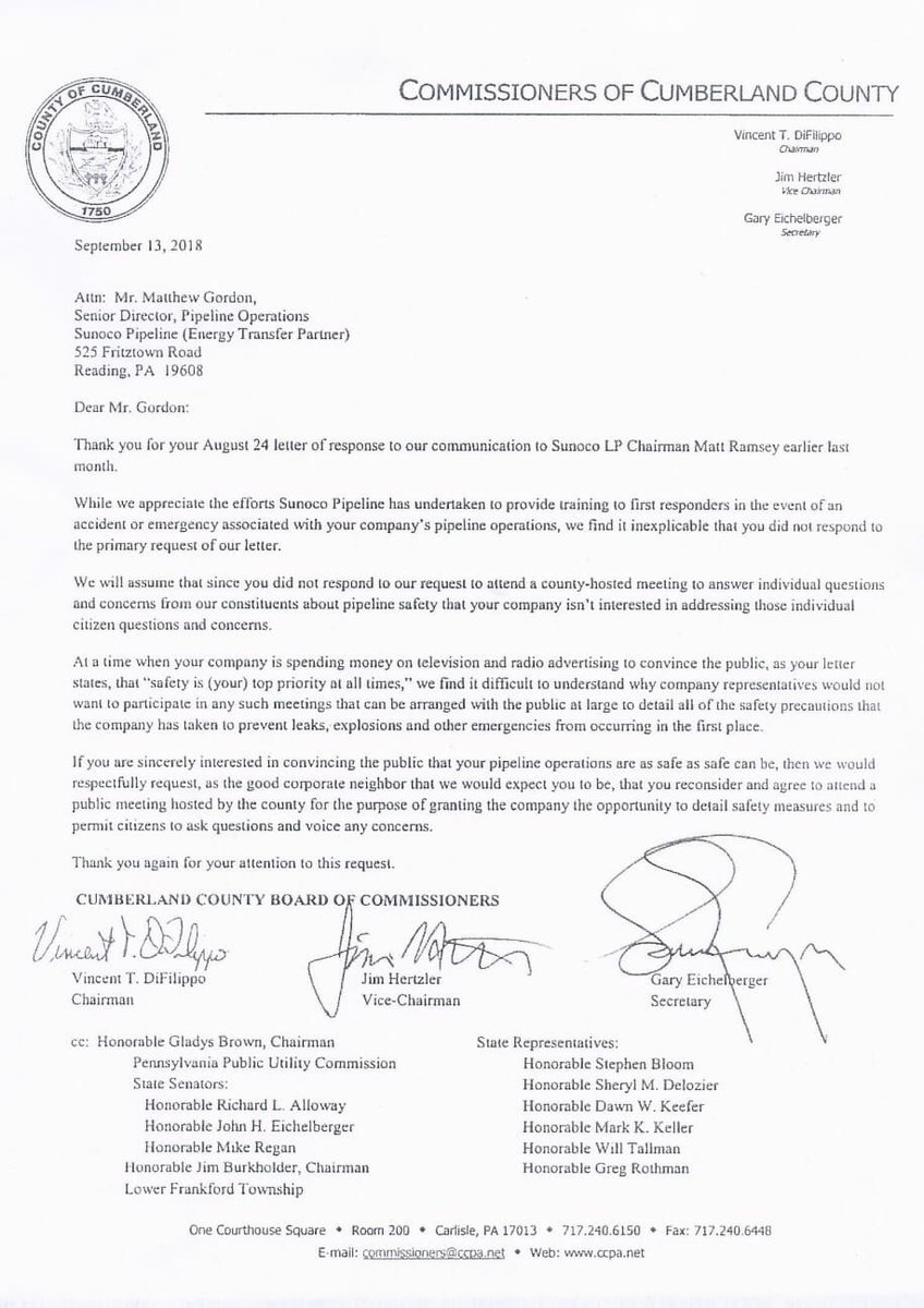 Here is the letter from @CumberlandCoNS stating that #suNOco is not following through with their state mandates! @