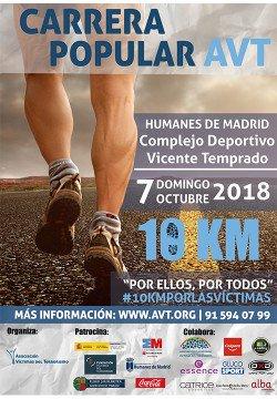 Carrera popular de la @_AVT_, 07 de octubre en #Humanes (Madrid). Anímate a correr. Por ellos, por todos. #10KmPorLasVíctimas