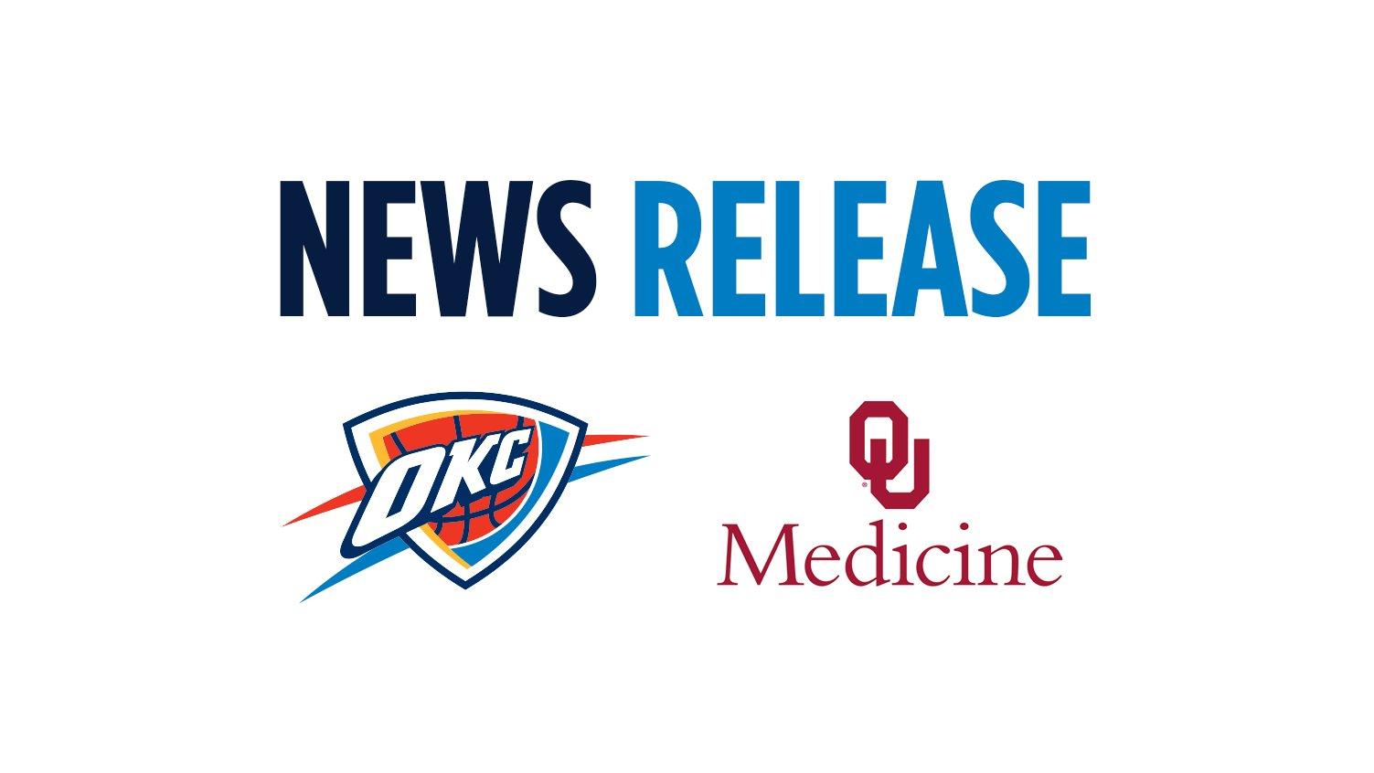 Oklahoma City Thunder, OU Medicine Announce Innovative New Partnership @OUMedicine  https://t.co/pagHQXPCbL https://t.co/4YRyhGgDn9